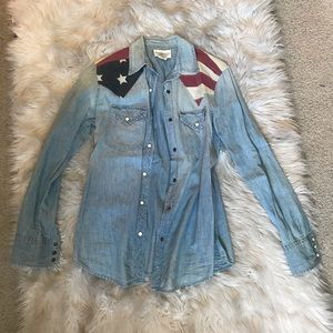 Ralph Lauren denim and supply top